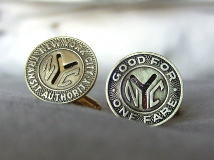 NYC Subway Token Cufflinks