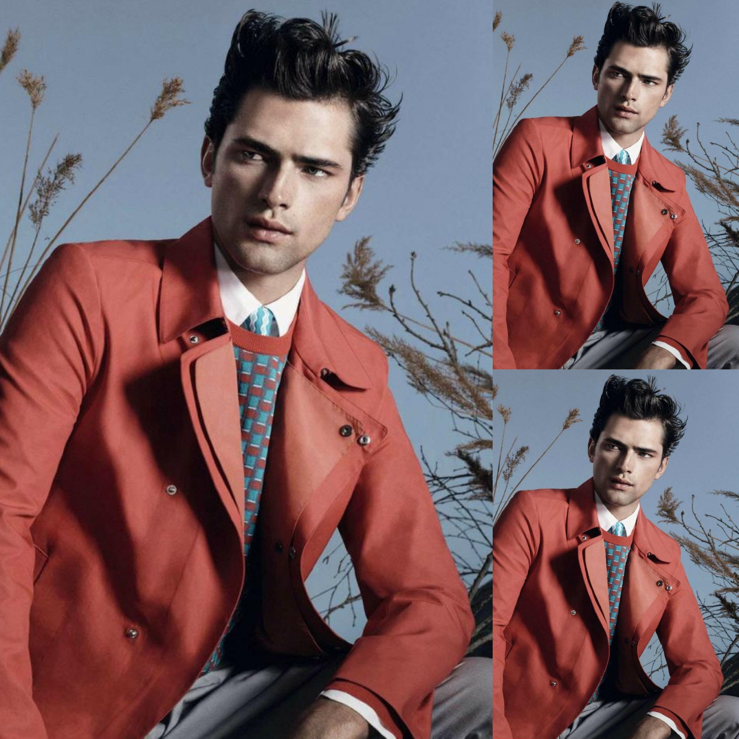 #1 - Sean O'Pry for Salvatore Ferragamo Spring Summer 2013 Lookbook