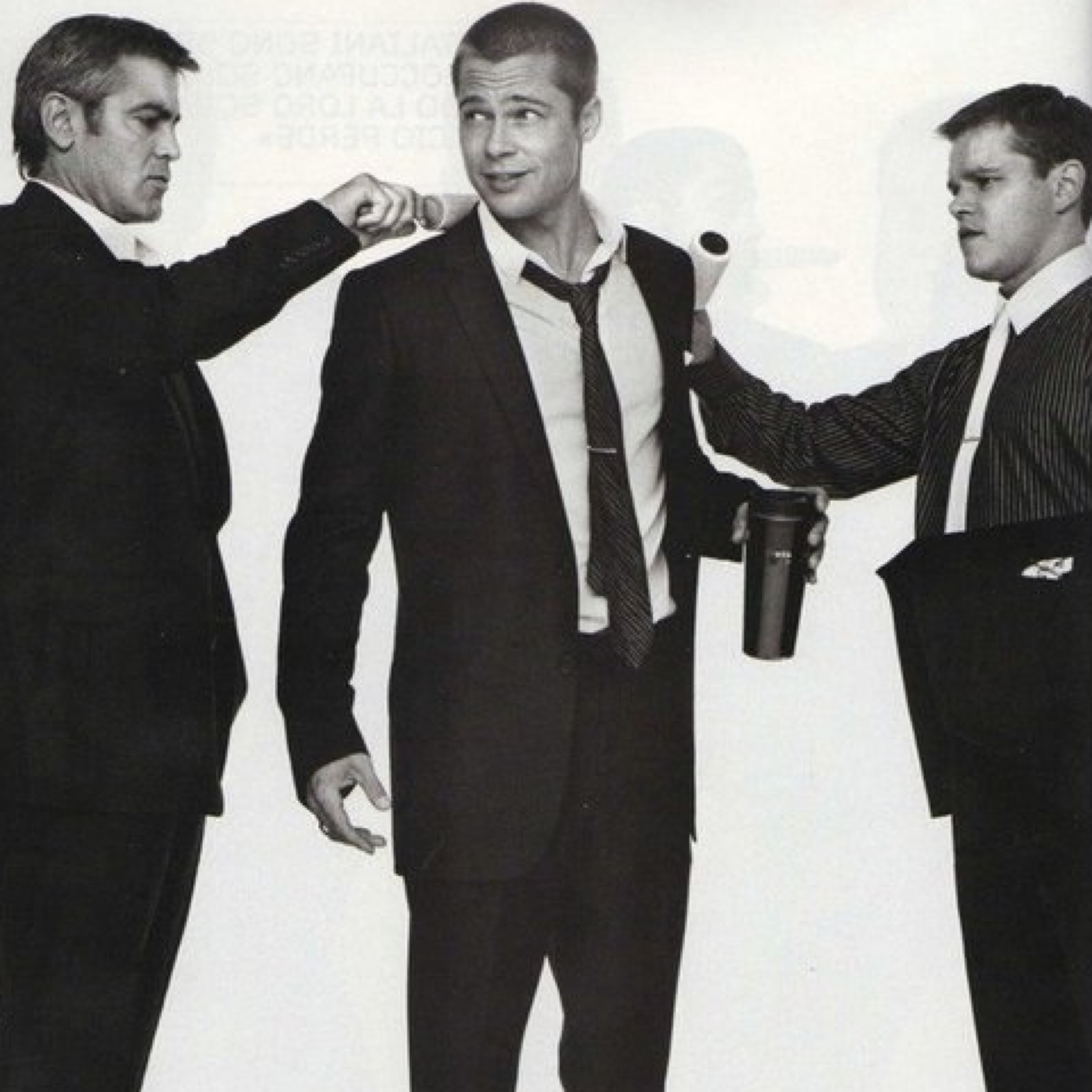 #1 (149 likes) - George Clooney, Brad Pitt and Matt Damon in Oceans Eleven