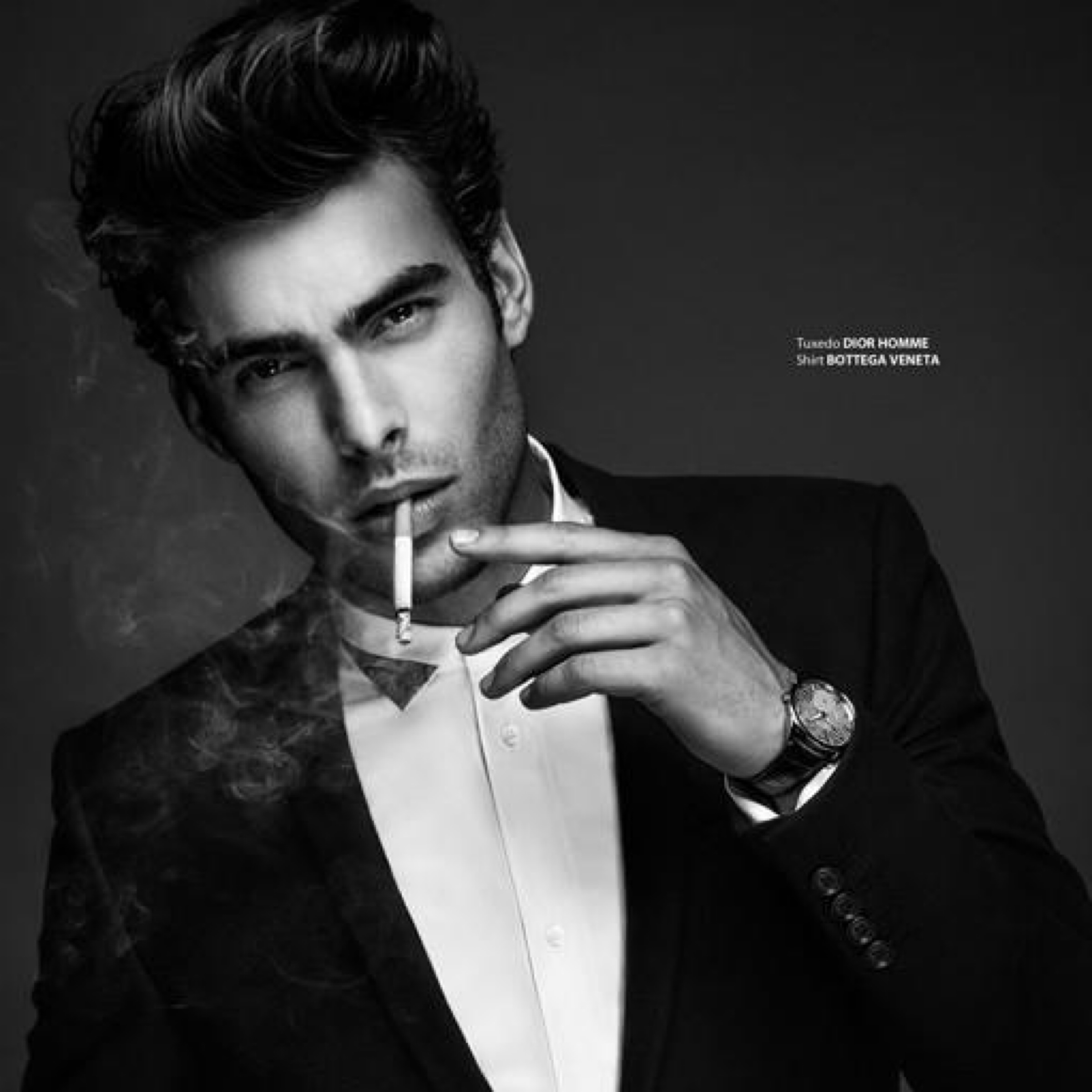 #3 (131 likes) Jon Kortajarena by Anthony Meyer for Apollo Novo 2012. Tuxedo by Dior Homme. Shirt by Bottega Veneta