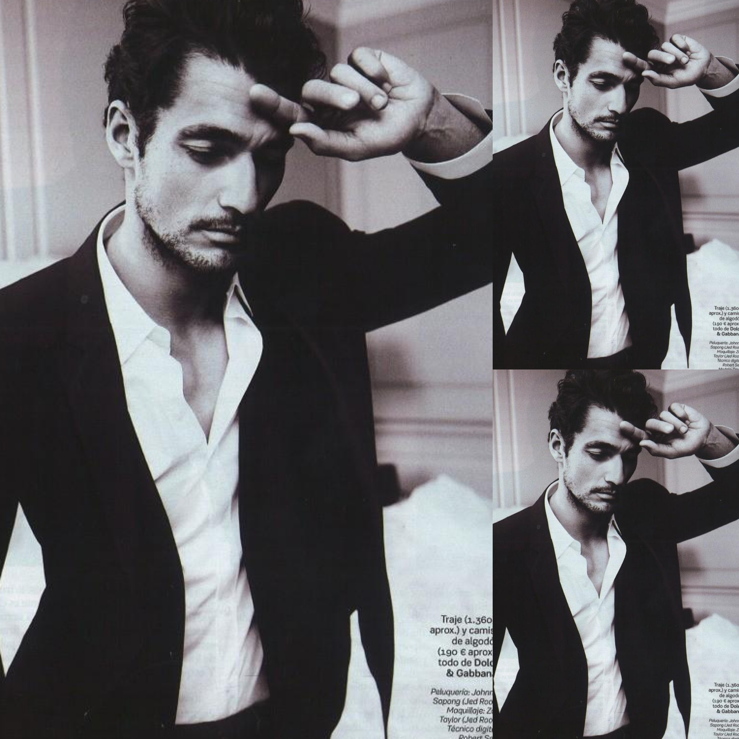 #4 - David Gandy by Damon Baker - S Moda for El Pais March 2013. David Gandy wears Dolce and Gabbana