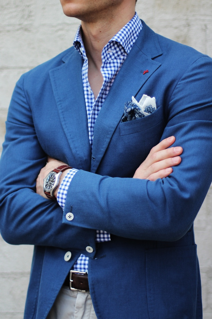 Layers of blue look strong