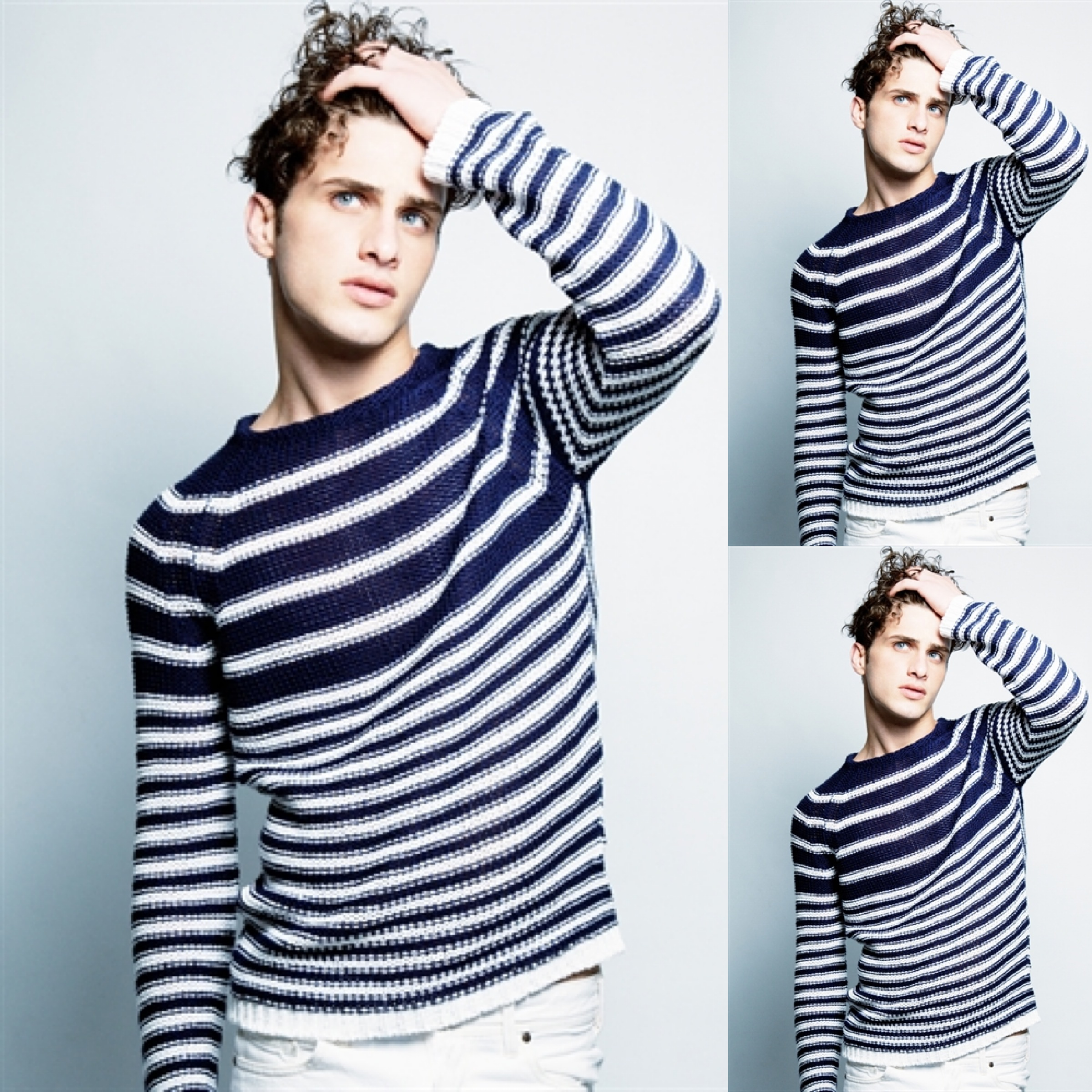 Uneven stripe in a sweater