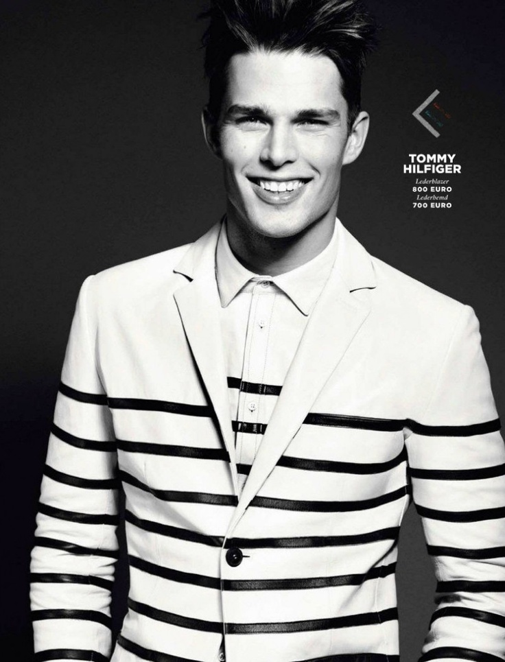 Nils Butler wearing Tommy Hilfiger stripes in layers