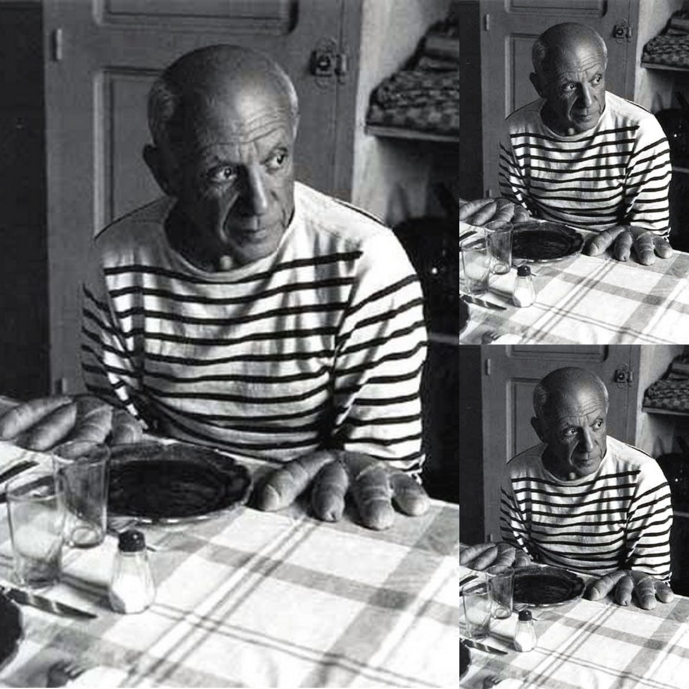 Pablo Picasso shows that stripes work at all ages