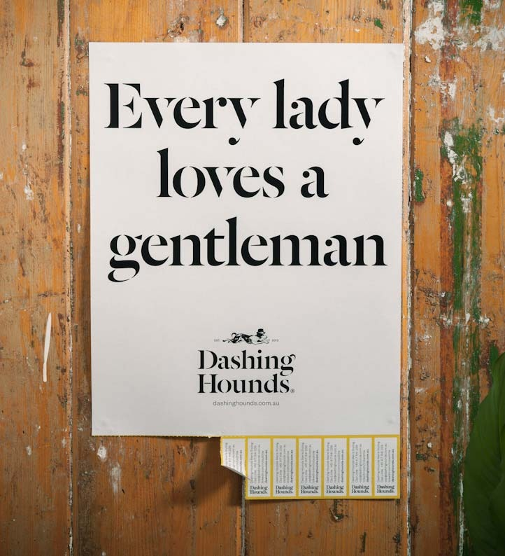 Dashing Hounds : Every lady loves a gentleman