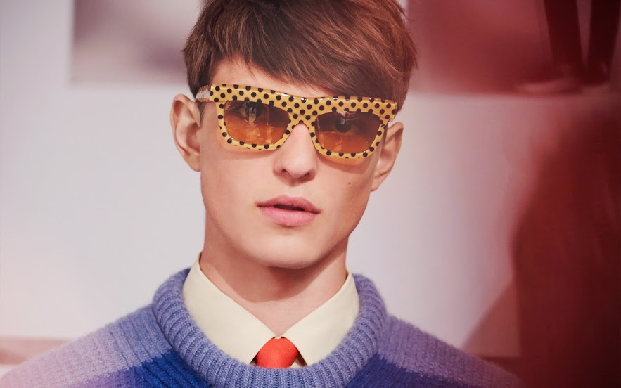Burberry Prorsum Spring Summer 2014 :: Wave Dot Sunglasses