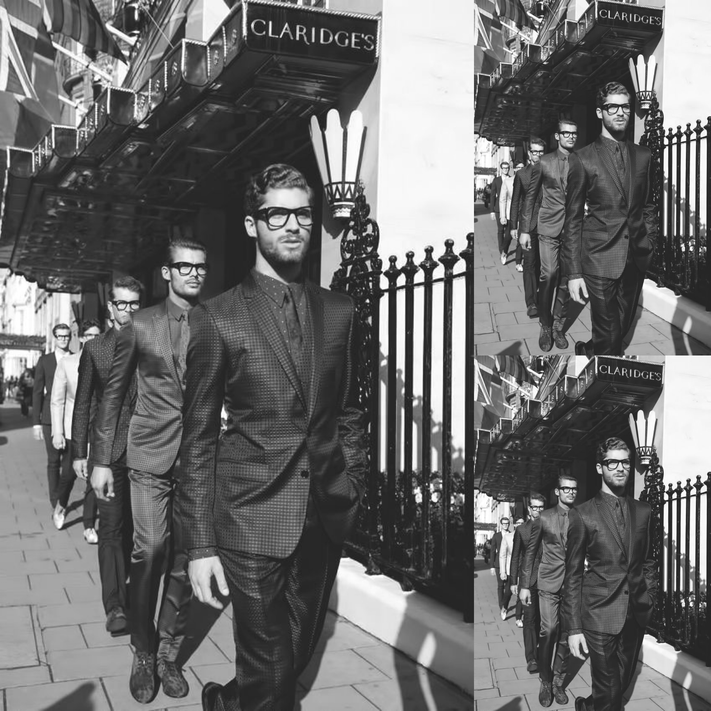 The models at London Collections: Men in Dolce and Gabbana on the streets of London