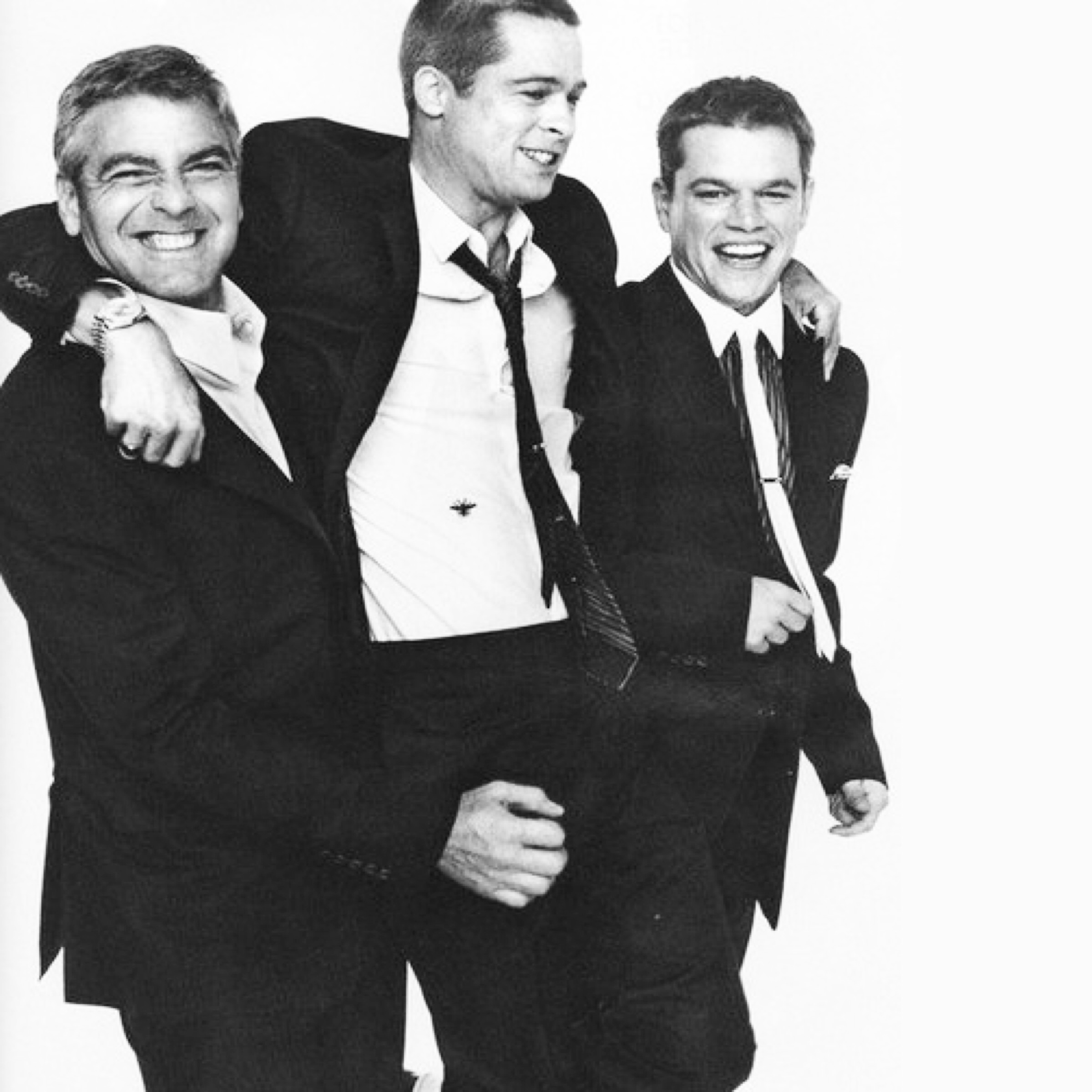 George Clooney, Brad Pitt and Matt Damon || Oceans Eleven