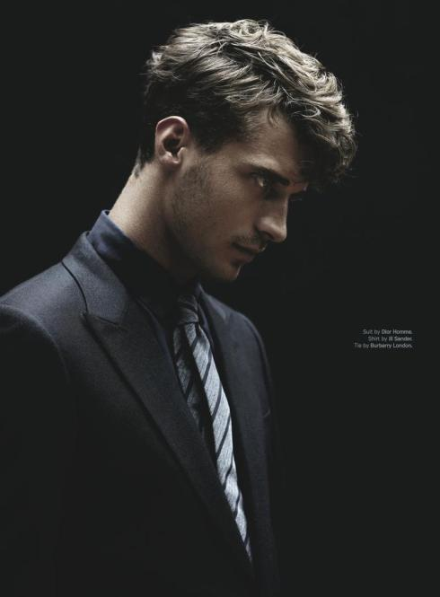 Clement Chabernaud in Dior Homme suit, Jil Sander shirt & Burberry London tie