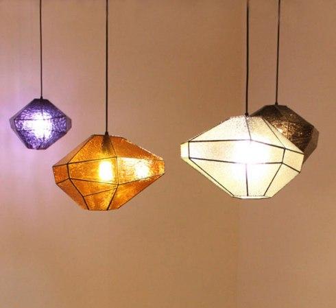 Darcy Clarke's Diamond Pendant Lamps