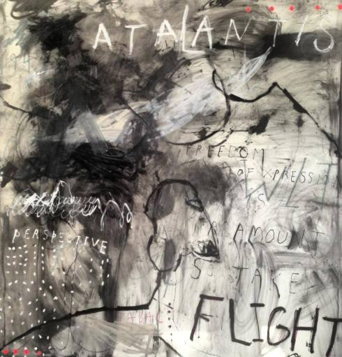 George Raftopoulos  |  Freedom is Paramount So Take Flight  |  183cm x 183cm | Oil on Vellum