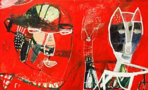 George Raftopoulos  |  Piffy Birdie & Bing  |  120cm x 180cm  |  Oil on Linen