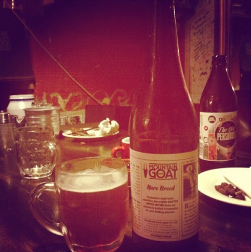 David also loves beer, this Mountain Goat beer from his Instagram feed