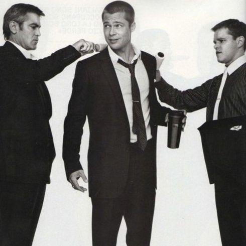 George Clooney, Brad Pitt and Matt Damon | Oceans Eleven