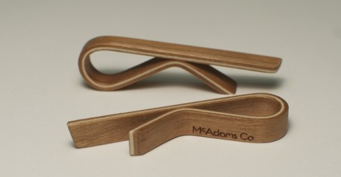 McAdams Co. Cherry Wood Tie Bar