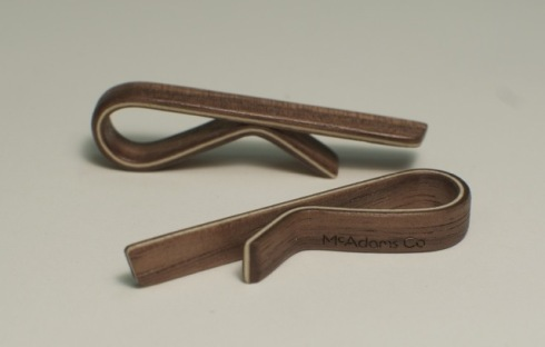 McAdams Co. Walnut Tie Bar