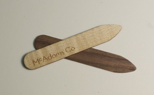 McAdams Co. wooden collar stays
