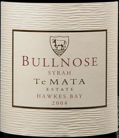 Te Mata 'Bullnose' Syrah, Hawkes Bay, New Zealand