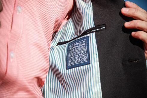 Mizzen+Main detail inside blazer