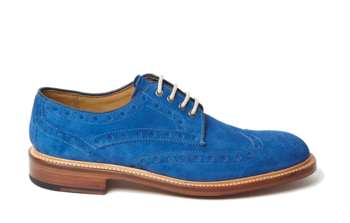 Oliver Sweeney Hasketon Blue Suede Brogue