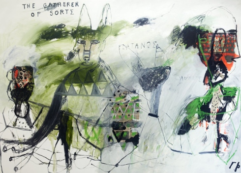 George Raftopoulos | Gatherer of Sorts (2014) | 165cm x 190cm  Oil on Canvas